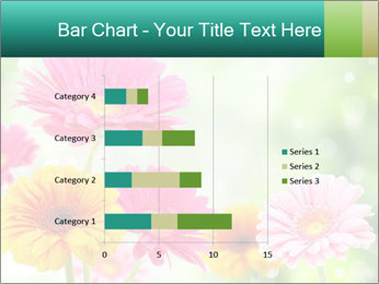Colored flowers PowerPoint Template - Slide 52