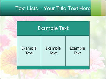 Colored flowers PowerPoint Template - Slide 59