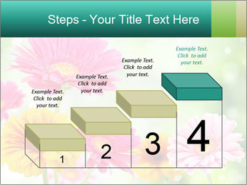Colored flowers PowerPoint Template - Slide 64