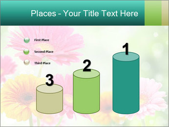 Colored flowers PowerPoint Template - Slide 65