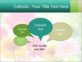 Colored flowers PowerPoint Template - Slide 73