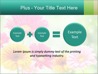 Colored flowers PowerPoint Template - Slide 75