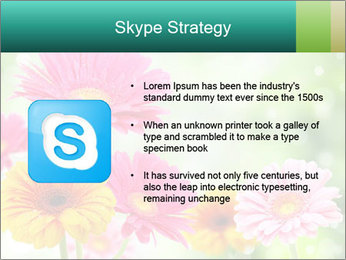Colored flowers PowerPoint Template - Slide 8