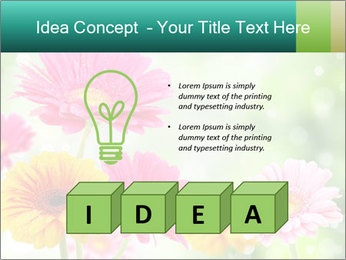 Colored flowers PowerPoint Template - Slide 80