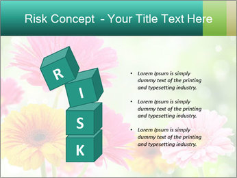 Colored flowers PowerPoint Template - Slide 81