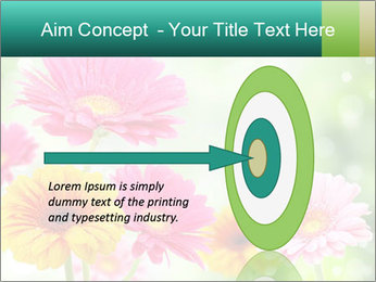 Colored flowers PowerPoint Template - Slide 83