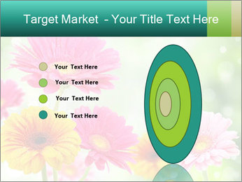 Colored flowers PowerPoint Template - Slide 84