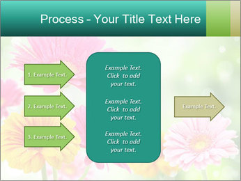 Colored flowers PowerPoint Template - Slide 85
