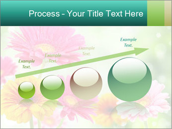 Colored flowers PowerPoint Template - Slide 87