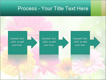 Colored flowers PowerPoint Template - Slide 88