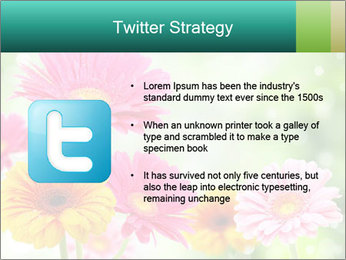 Colored flowers PowerPoint Template - Slide 9