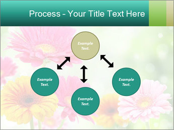 Colored flowers PowerPoint Template - Slide 91
