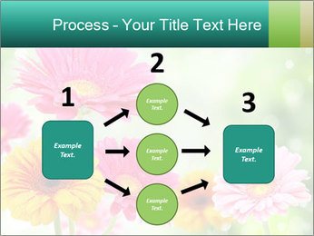 Colored flowers PowerPoint Template - Slide 92