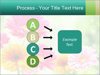 Colored flowers PowerPoint Template - Slide 94
