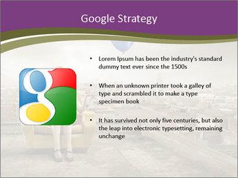 Woman sitting PowerPoint Template - Slide 10