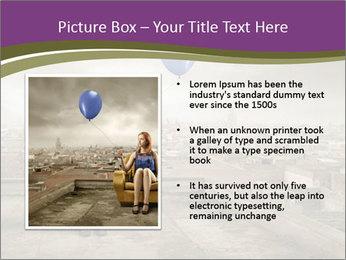 Woman sitting PowerPoint Template - Slide 13