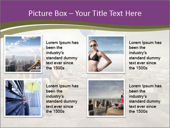 Woman sitting PowerPoint Template - Slide 14