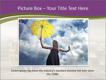 Woman sitting PowerPoint Template - Slide 15