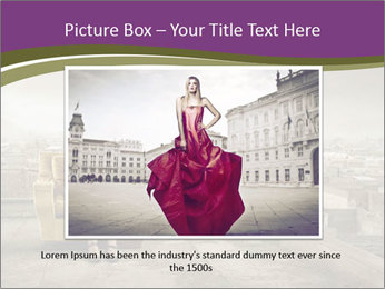 Woman sitting PowerPoint Template - Slide 16