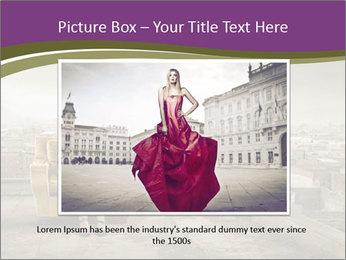 Woman sitting PowerPoint Template - Slide 16