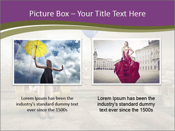 Woman sitting PowerPoint Template - Slide 18
