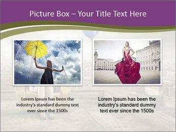 Woman sitting PowerPoint Template - Slide 18