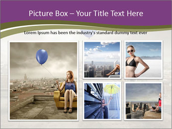 Woman sitting PowerPoint Template - Slide 19