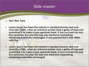 Woman sitting PowerPoint Template - Slide 2