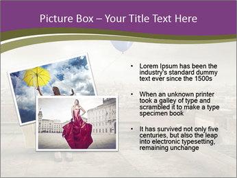Woman sitting PowerPoint Template - Slide 20