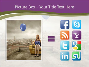 Woman sitting PowerPoint Template - Slide 21