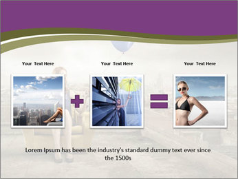 Woman sitting PowerPoint Template - Slide 22