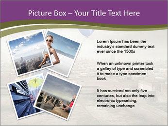 Woman sitting PowerPoint Template - Slide 23