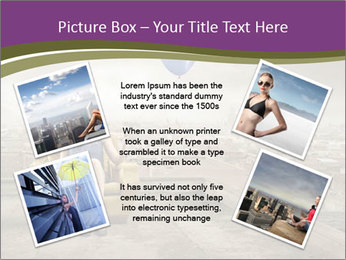 Woman sitting PowerPoint Template - Slide 24