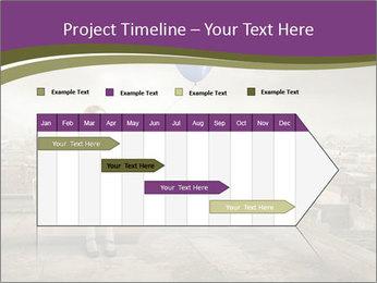Woman sitting PowerPoint Template - Slide 25