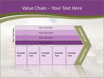 Woman sitting PowerPoint Template - Slide 27