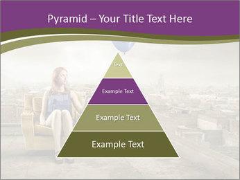 Woman sitting PowerPoint Template - Slide 30