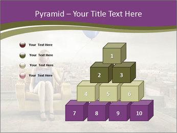 Woman sitting PowerPoint Template - Slide 31