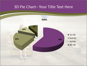 Woman sitting PowerPoint Template - Slide 35