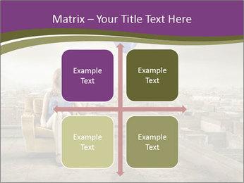 Woman sitting PowerPoint Template - Slide 37