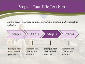 Woman sitting PowerPoint Template - Slide 4