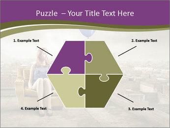 Woman sitting PowerPoint Template - Slide 40