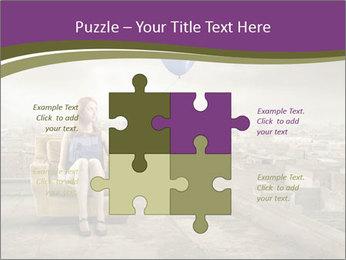 Woman sitting PowerPoint Template - Slide 43