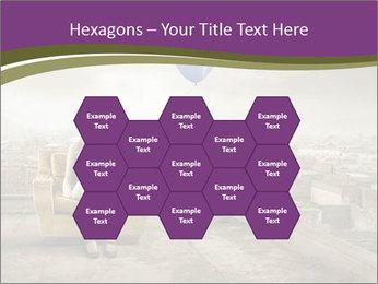 Woman sitting PowerPoint Template - Slide 44