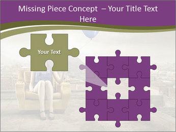 Woman sitting PowerPoint Template - Slide 45