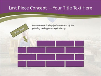 Woman sitting PowerPoint Template - Slide 46