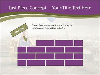 Woman sitting PowerPoint Template - Slide 46