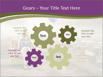 Woman sitting PowerPoint Template - Slide 47