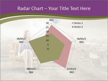 Woman sitting PowerPoint Template - Slide 51