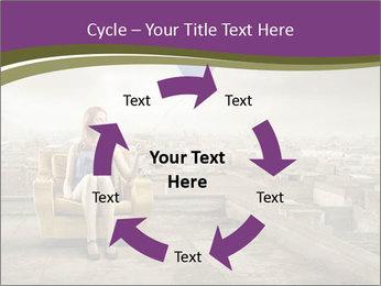 Woman sitting PowerPoint Template - Slide 62
