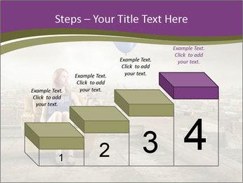 Woman sitting PowerPoint Template - Slide 64